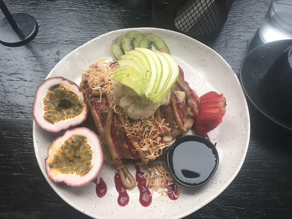 """Photo of Sozo Cafe  by <a href=""""/members/profile/Tvalen01"""">Tvalen01</a> <br/>Vegan pancakes- yum!!!! amazing!  <br/> November 30, 2017  - <a href='/contact/abuse/image/84435/330701'>Report</a>"""