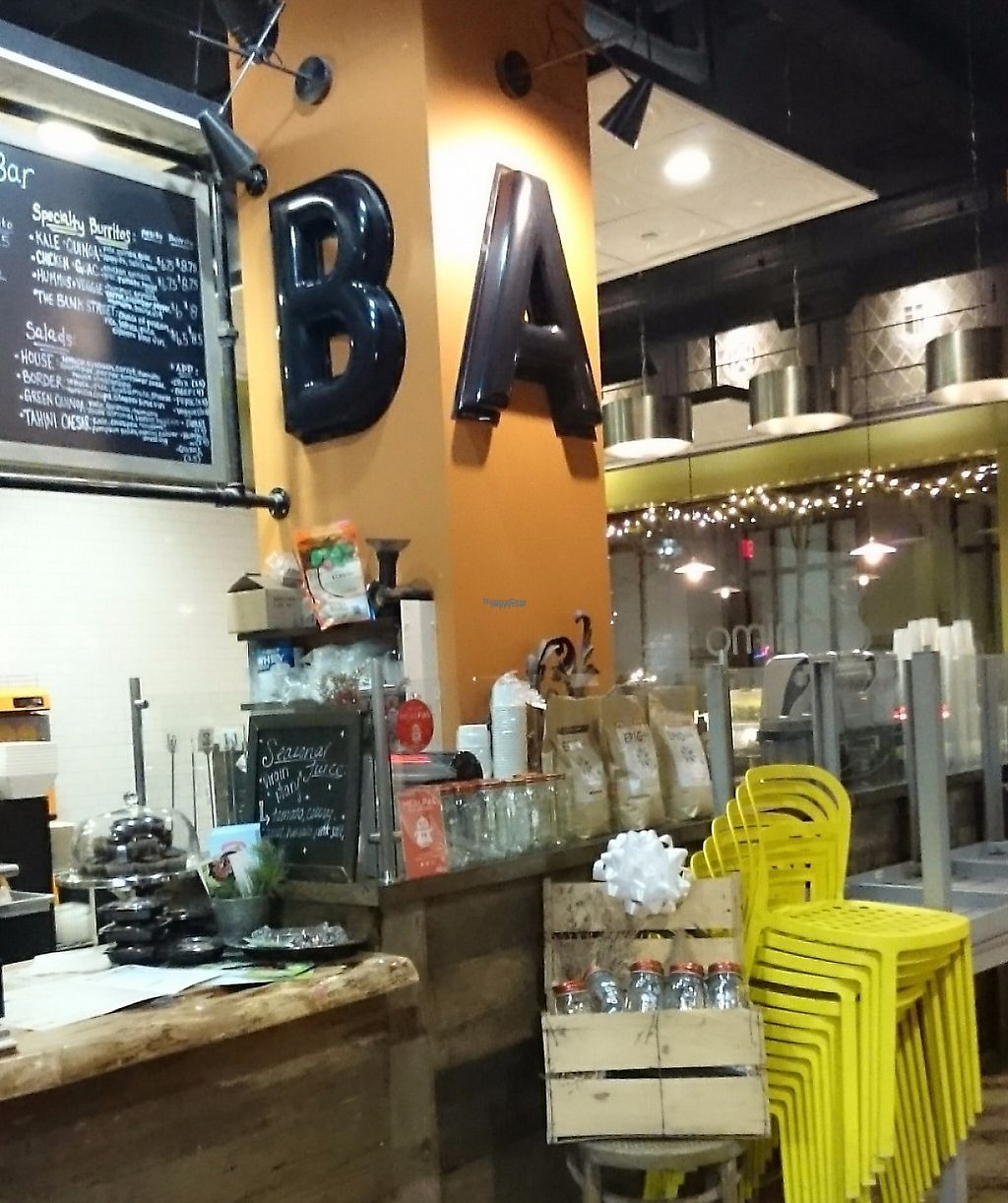 """Photo of Animo Juice Bar and Burrito Bar  by <a href=""""/members/profile/ZoraySpielvogel"""">ZoraySpielvogel</a> <br/>Cozy inside.  <br/> December 25, 2016  - <a href='/contact/abuse/image/84453/223402'>Report</a>"""