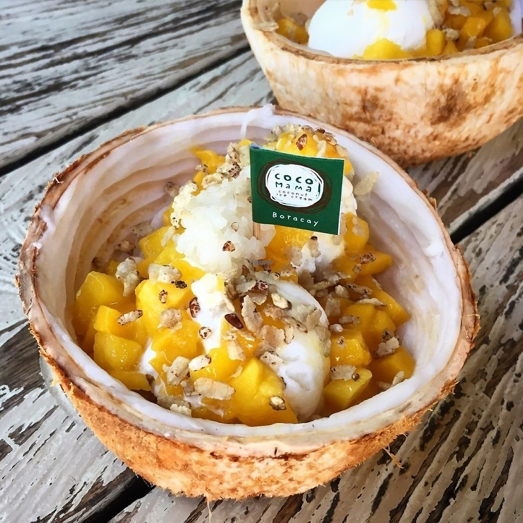 """Photo of Coco Mama  by <a href=""""/members/profile/Reptile"""">Reptile</a> <br/>Vegan coconut ice cream with fresh coconut, mango, sticky rice and toasted rice <br/> December 25, 2016  - <a href='/contact/abuse/image/84465/204599'>Report</a>"""