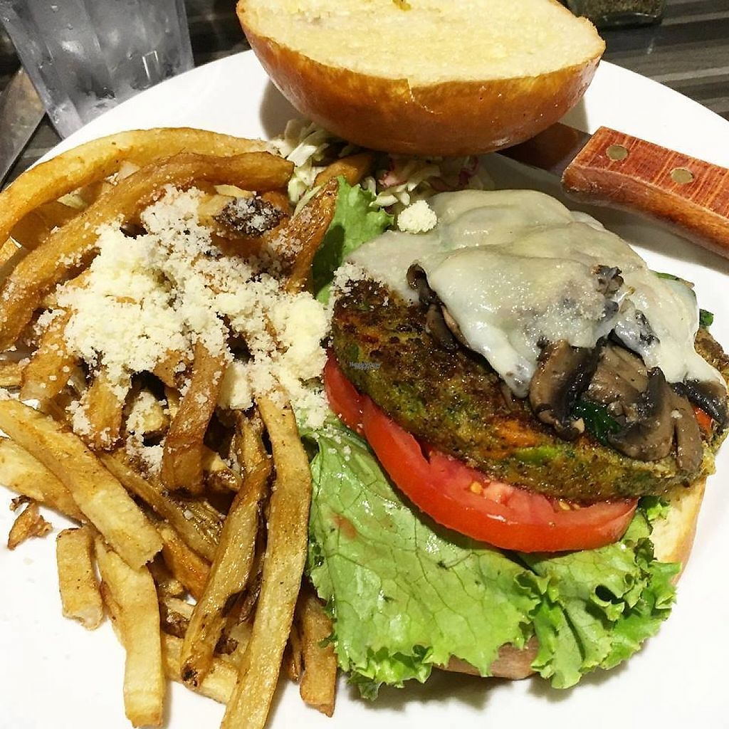 """Photo of Sabrina's Cafe  by <a href=""""/members/profile/community"""">community</a> <br/>Veggie Burger <br/> January 26, 2017  - <a href='/contact/abuse/image/84485/216970'>Report</a>"""