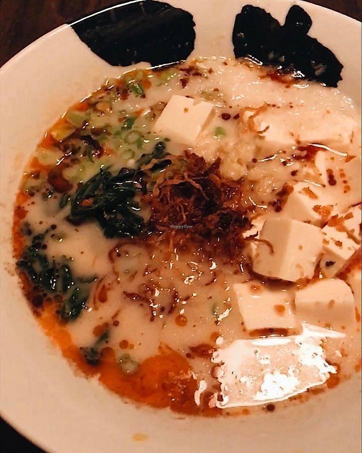 """Photo of Jinya Ramen Bar  by <a href=""""/members/profile/ChristineLee"""">ChristineLee</a> <br/>Creamy Vegan Ramen <br/> August 4, 2017  - <a href='/contact/abuse/image/84491/288491'>Report</a>"""