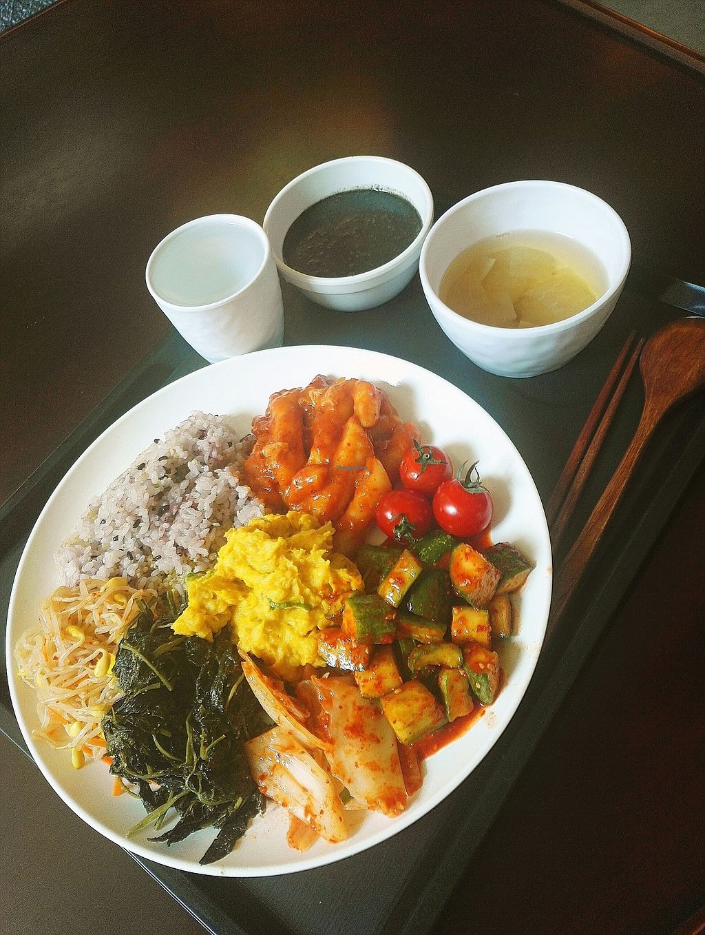 """Photo of CLOSED: Samso - 삼소  by <a href=""""/members/profile/EOH"""">EOH</a> <br/>Delicious!!! The tteokbokki is amazing and the black Sesame juk is so good! <br/> July 31, 2017  - <a href='/contact/abuse/image/84500/287241'>Report</a>"""
