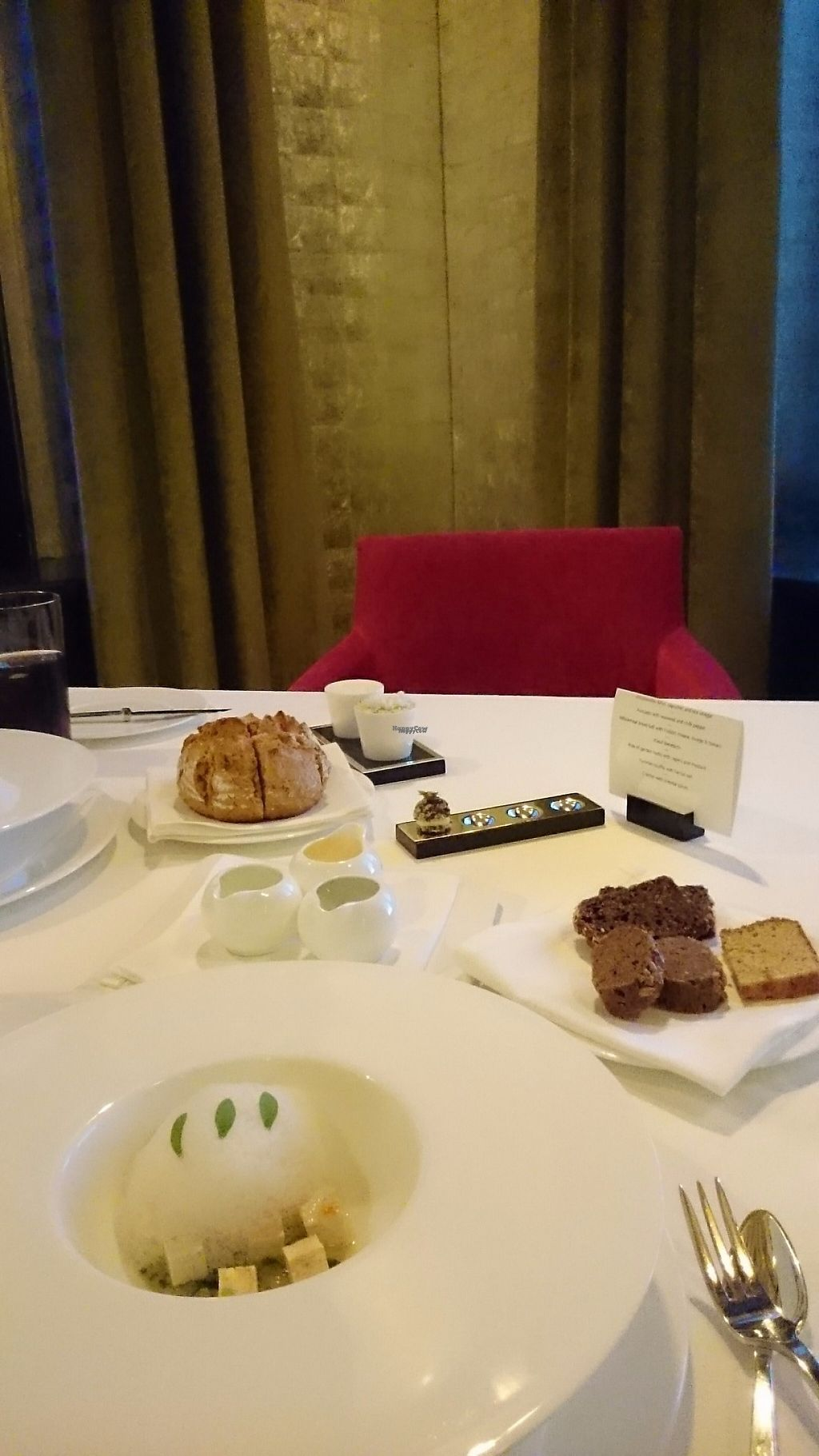"""Photo of The Restaurant at The Dolder Grand  by <a href=""""/members/profile/ZoraySpielvogel"""">ZoraySpielvogel</a> <br/>Another vegan culinary art by the chef.  <br/> December 25, 2016  - <a href='/contact/abuse/image/84513/204671'>Report</a>"""