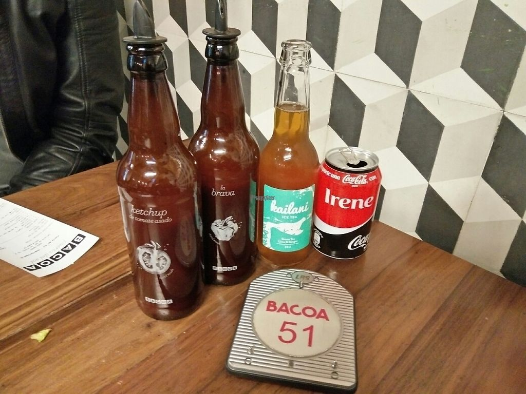 """Photo of Bacoa Burger  by <a href=""""/members/profile/martinicontomate"""">martinicontomate</a> <br/>homemade ketchup and brava sauce, ginger limonade and diet coke <br/> December 26, 2016  - <a href='/contact/abuse/image/84557/204859'>Report</a>"""