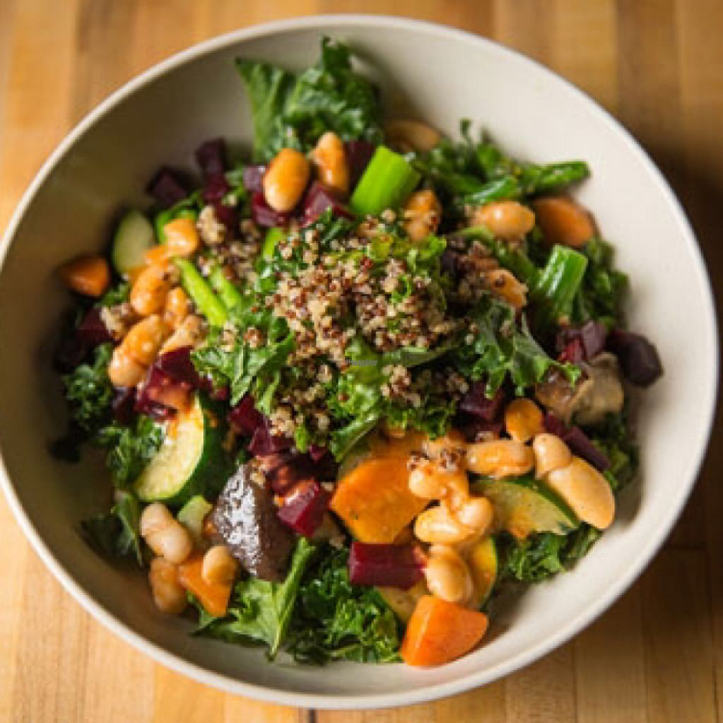 """Photo of b.good  by <a href=""""/members/profile/eliseherring"""">eliseherring</a> <br/>Kale and quinoa bowl <br/> December 27, 2016  - <a href='/contact/abuse/image/84599/205372'>Report</a>"""