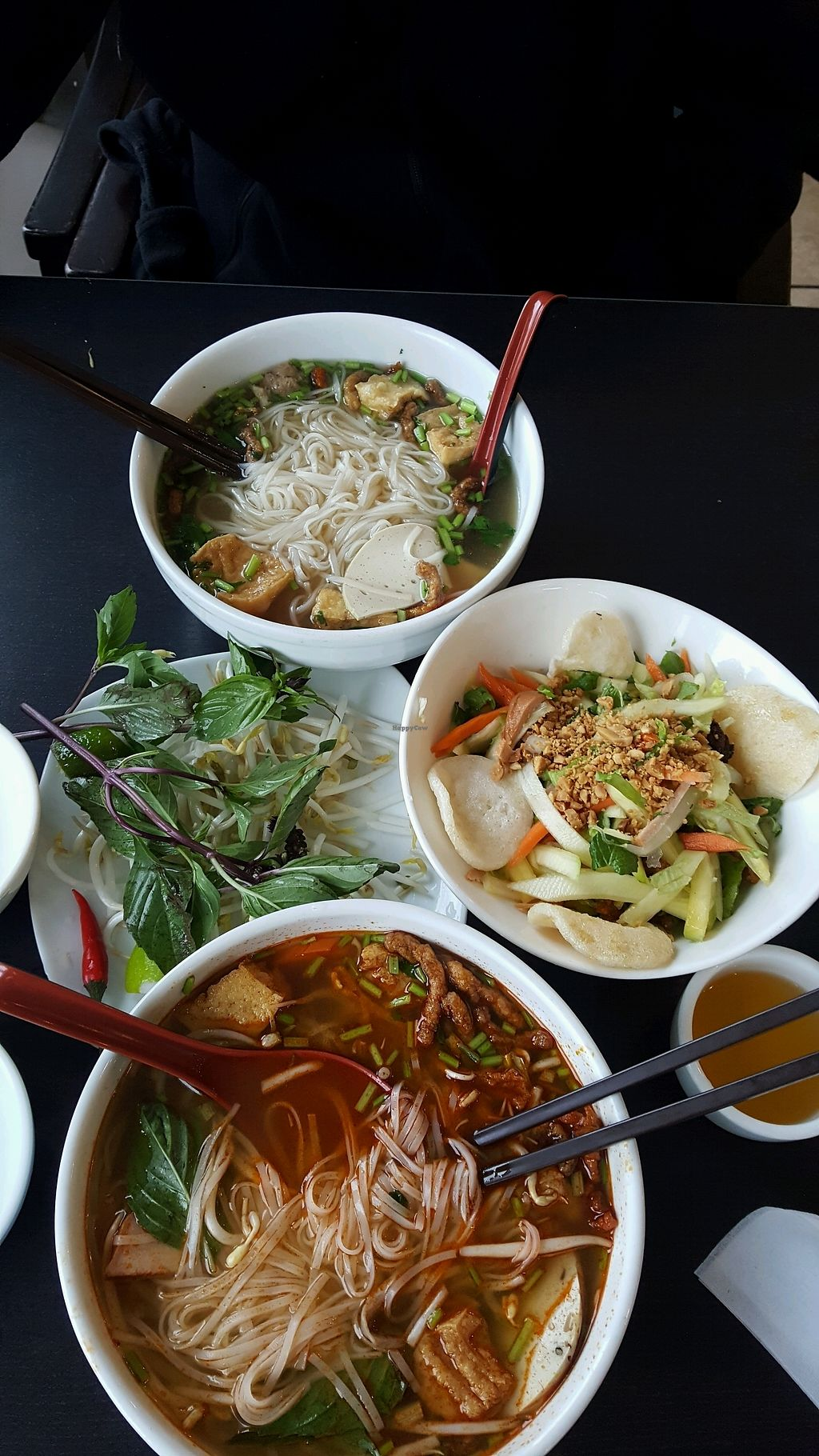 "Photo of Dai Bi Chay  by <a href=""/members/profile/PaulineHuynhOng"">PaulineHuynhOng</a> <br/>Pho and Tom Yum and Mango salad <br/> January 29, 2018  - <a href='/contact/abuse/image/84600/352418'>Report</a>"