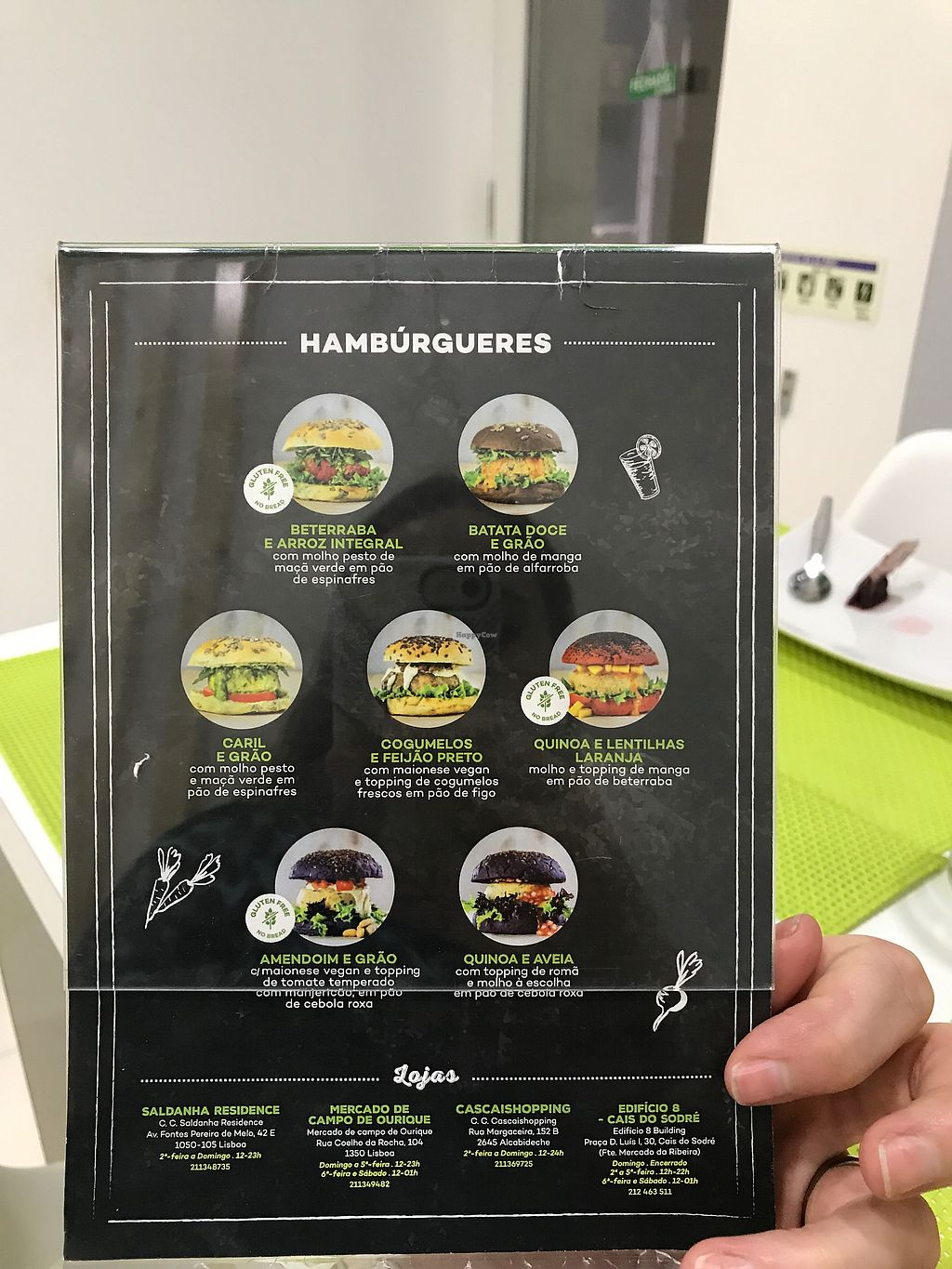 """Photo of Vegana Burgers - Cais do Sodre  by <a href=""""/members/profile/ReginaCoeli"""">ReginaCoeli</a> <br/>menu in English <br/> September 5, 2017  - <a href='/contact/abuse/image/84623/301267'>Report</a>"""