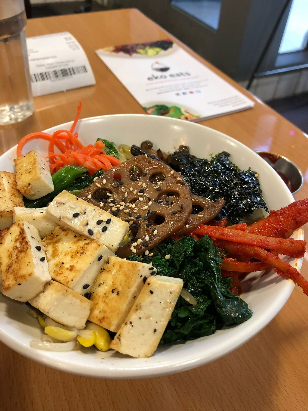 """Photo of Eko Eats  by <a href=""""/members/profile/Greenmilo"""">Greenmilo</a> <br/>Roasted tofu Bibimbap <br/> December 21, 2017  - <a href='/contact/abuse/image/84627/337870'>Report</a>"""