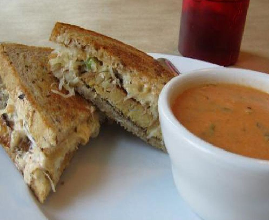 """Photo of Early Girl Eatery  by <a href=""""/members/profile/Julie%20R"""">Julie R</a> <br/>Reuben sandwich and tomato florentene soup <br/> November 7, 2011  - <a href='/contact/abuse/image/8467/193117'>Report</a>"""