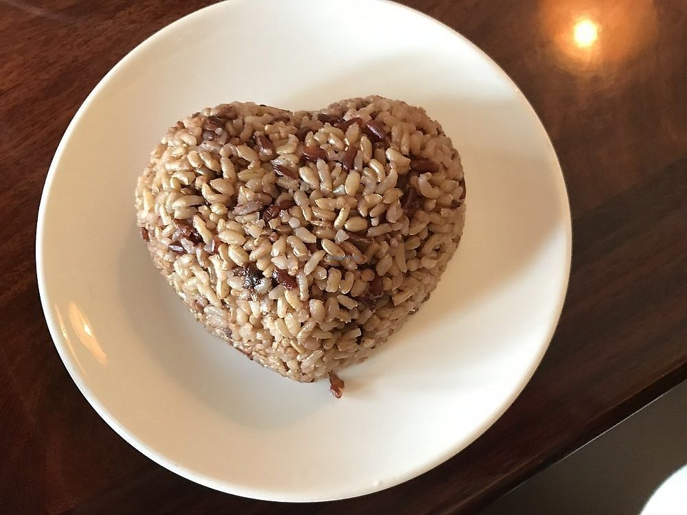"""Photo of Calistoga Thai Kitchen  by <a href=""""/members/profile/Napa%20Valley%20Vegan"""">Napa Valley Vegan</a> <br/>Hearth shaped brown rice! <br/> September 11, 2017  - <a href='/contact/abuse/image/84685/303186'>Report</a>"""