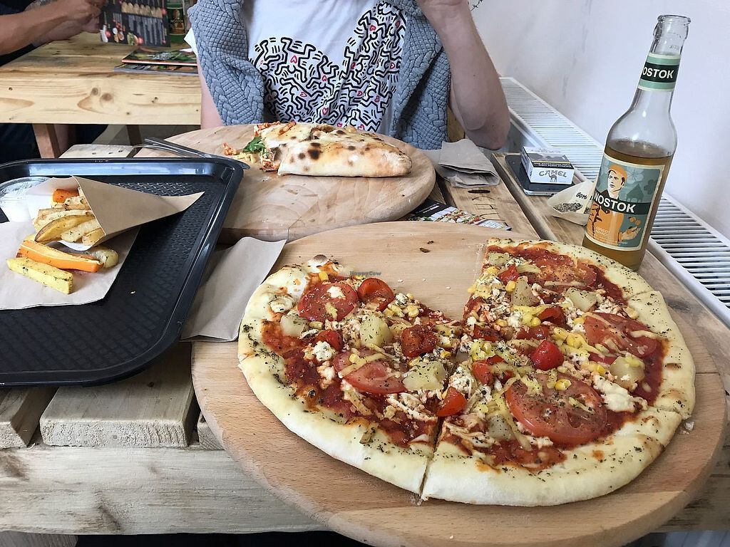 """Photo of Chutnej Fast Food  by <a href=""""/members/profile/AdamYeshe"""">AdamYeshe</a> <br/>Pizza and calzone <br/> July 24, 2017  - <a href='/contact/abuse/image/84697/284315'>Report</a>"""