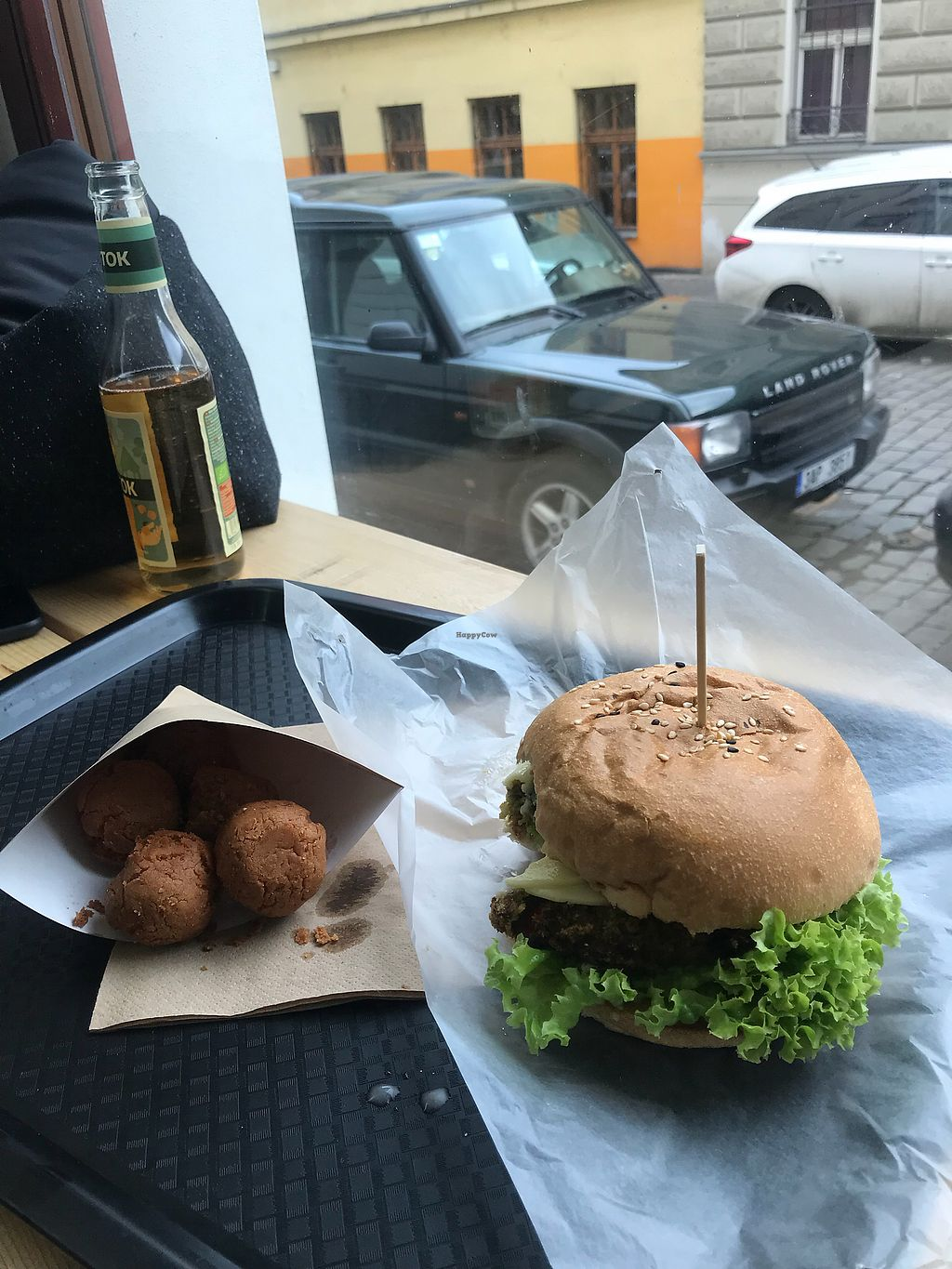 """Photo of Chutnej Fast Food  by <a href=""""/members/profile/SzapuDominika"""">SzapuDominika</a> <br/>Broccoli burger with chickpea """"balls"""" <br/> March 12, 2018  - <a href='/contact/abuse/image/84697/369607'>Report</a>"""