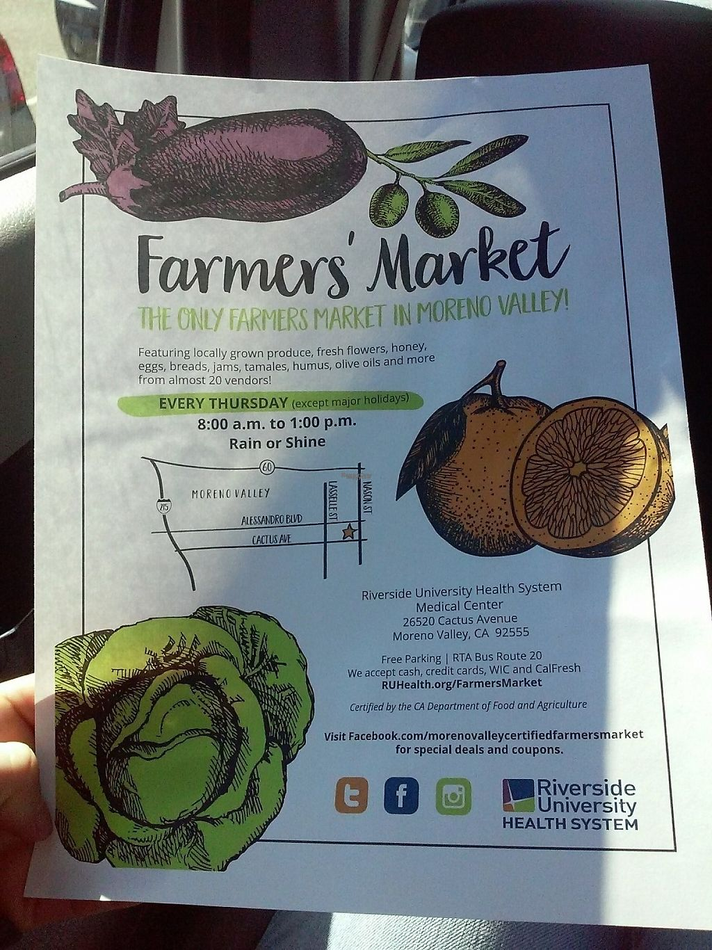 """Photo of Farmer's Market   by <a href=""""/members/profile/anastronomy"""">anastronomy</a> <br/>Farmer's Market Flyer <br/> December 30, 2016  - <a href='/contact/abuse/image/84750/206342'>Report</a>"""