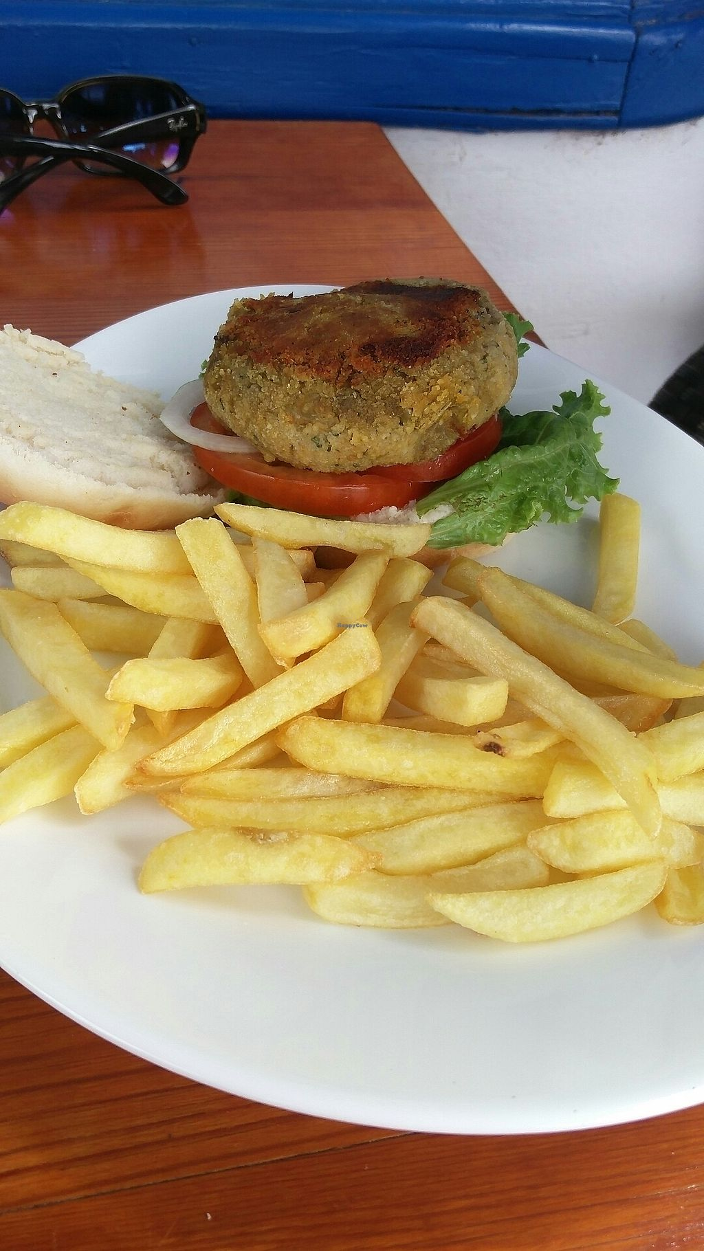 """Photo of Cafe Bonjour  by <a href=""""/members/profile/Harp"""">Harp</a> <br/>Vegan burger <br/> July 12, 2017  - <a href='/contact/abuse/image/84767/279461'>Report</a>"""