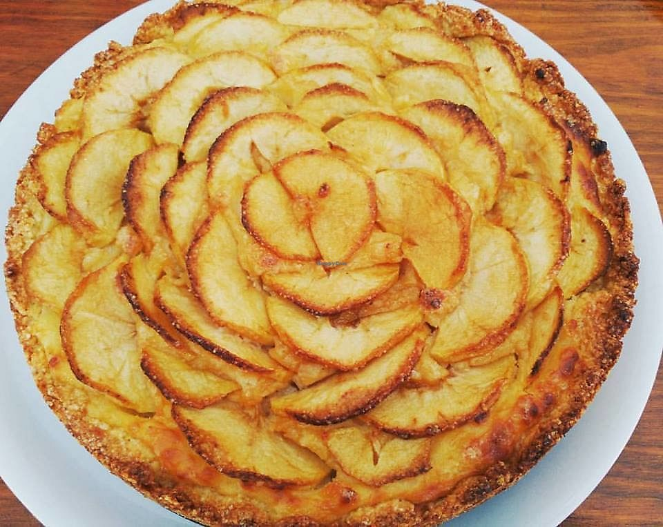 """Photo of Cafe Bonjour  by <a href=""""/members/profile/Flavita"""">Flavita</a> <br/>Vegan Apple pie <br/> November 30, 2017  - <a href='/contact/abuse/image/84767/330891'>Report</a>"""
