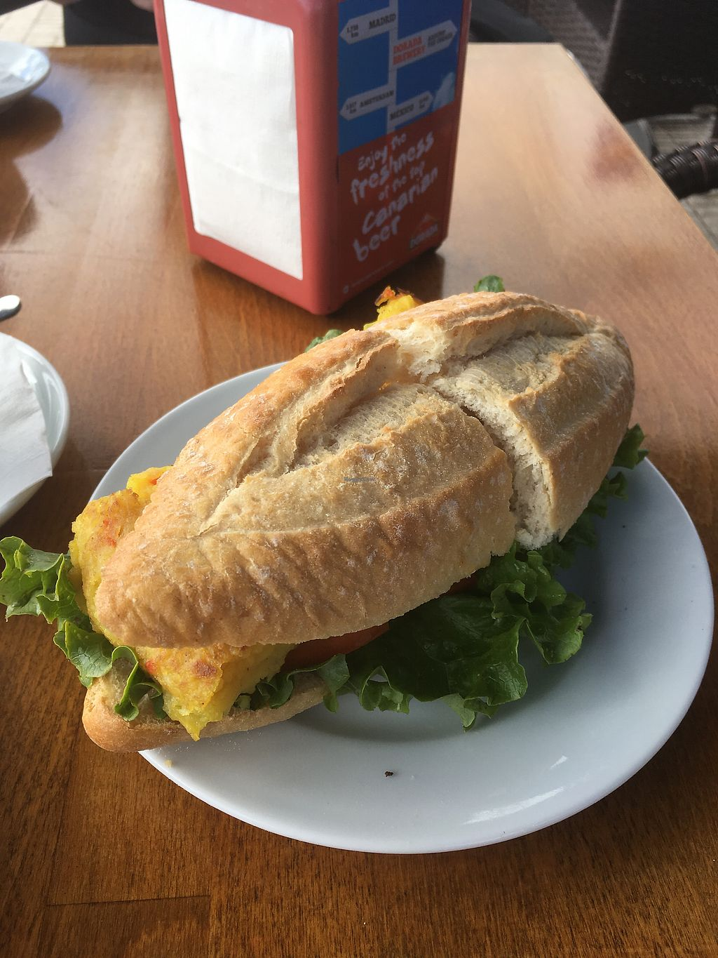 """Photo of Cafe Bonjour  by <a href=""""/members/profile/Reutmanx"""">Reutmanx</a> <br/>Tortilla baguette <br/> January 7, 2018  - <a href='/contact/abuse/image/84767/344061'>Report</a>"""