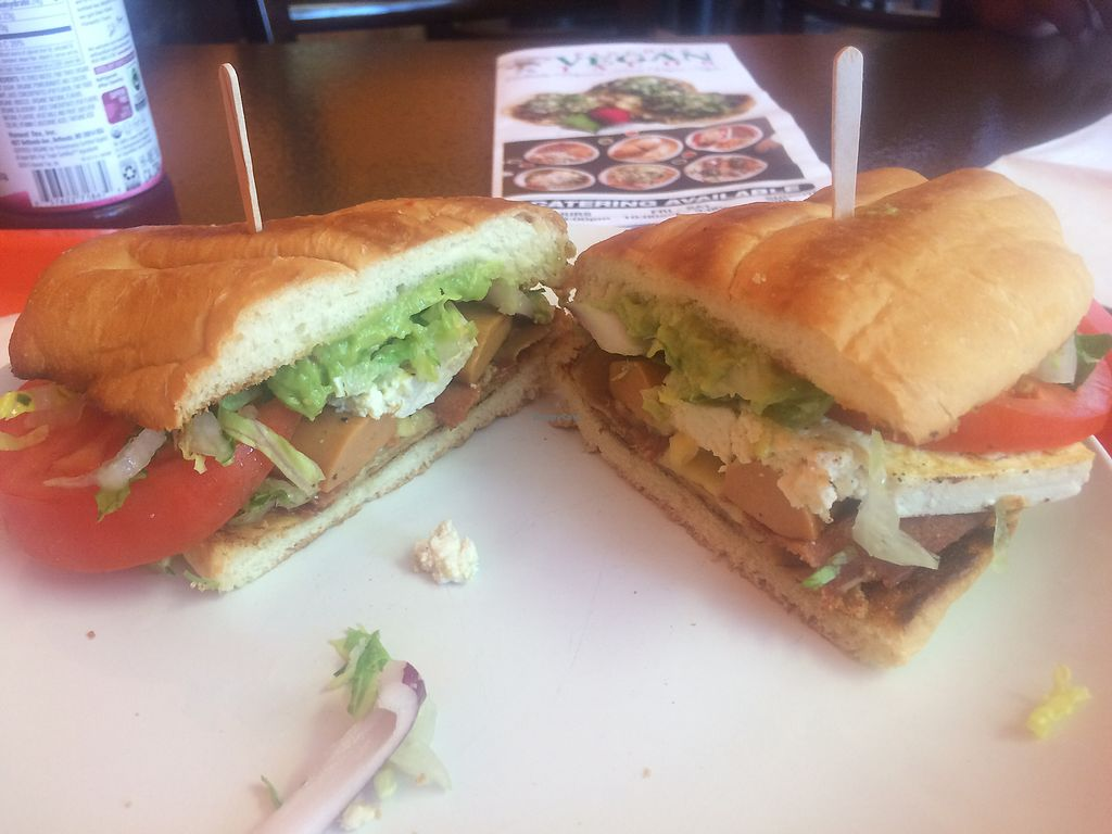 """Photo of Pancho's Vegan Tacos  by <a href=""""/members/profile/glassesgirl79"""">glassesgirl79</a> <br/>Cuban torta sandwich  <br/> July 28, 2017  - <a href='/contact/abuse/image/84771/285971'>Report</a>"""