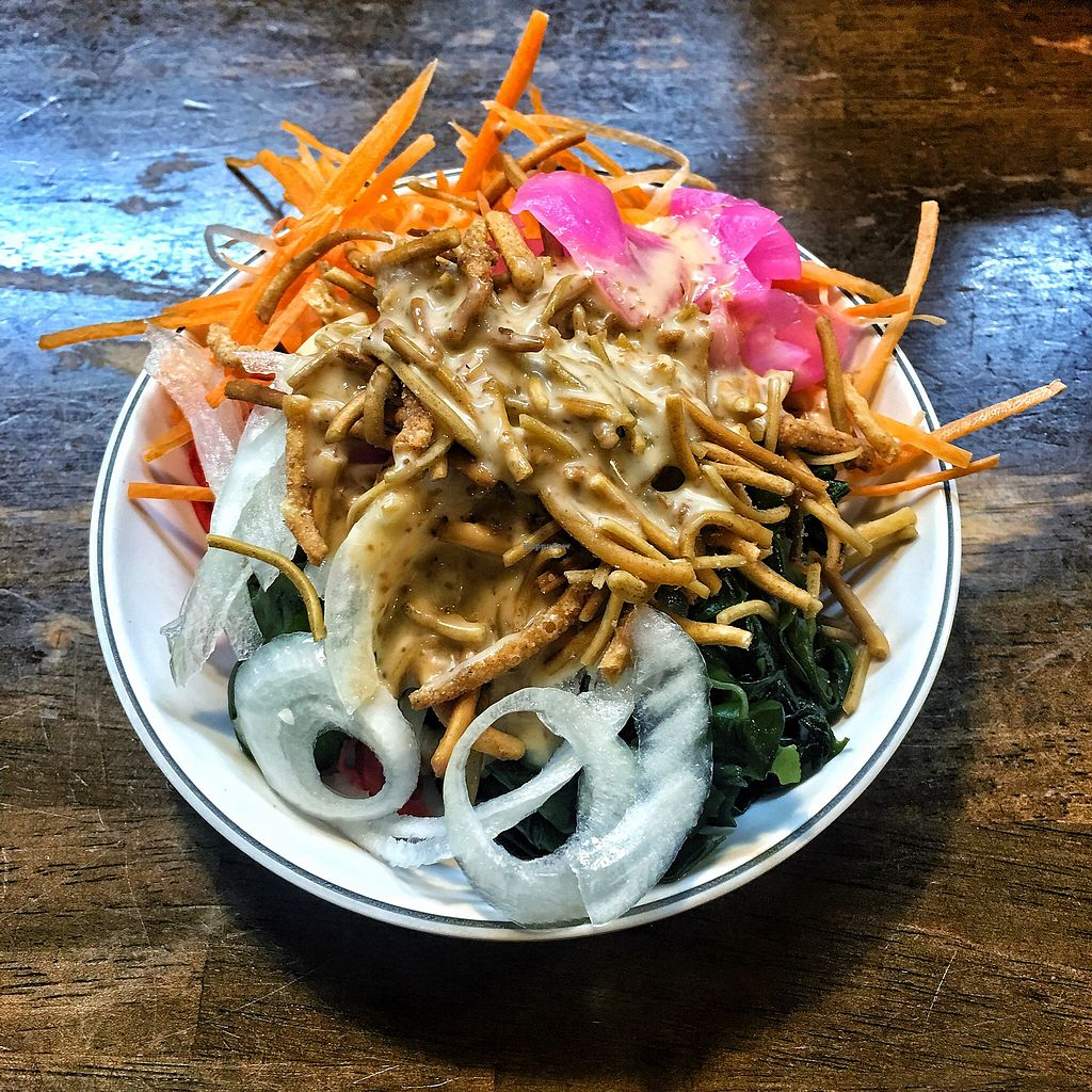 "Photo of Shugetsu  by <a href=""/members/profile/nourstattoo"">nourstattoo</a> <br/>Salad and soya sauce <br/> November 15, 2017  - <a href='/contact/abuse/image/84780/325852'>Report</a>"