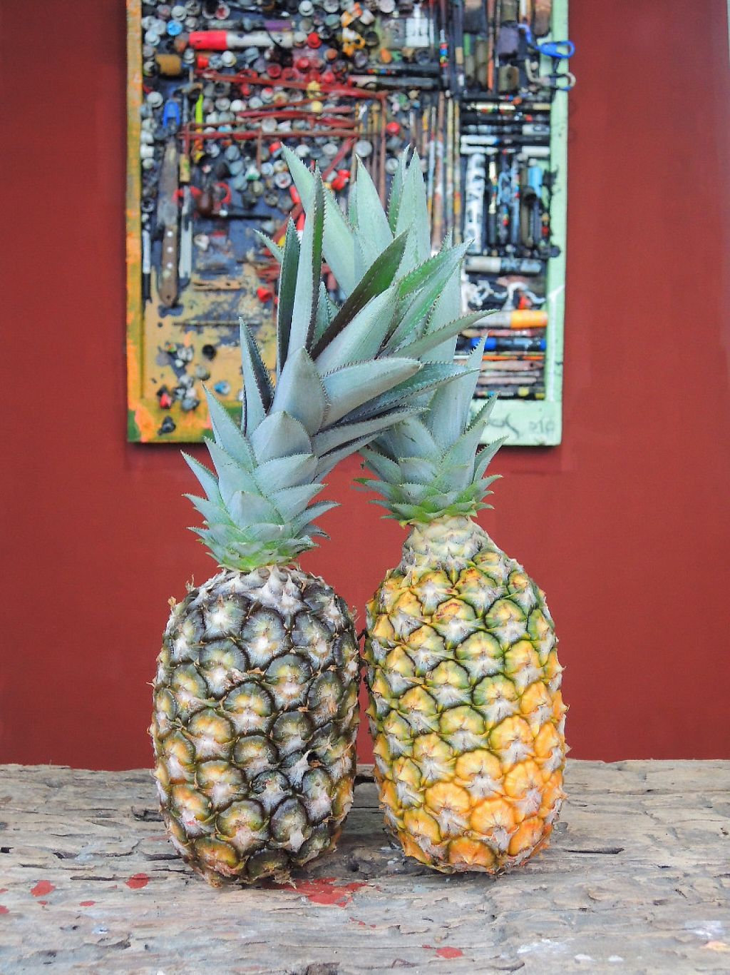 """Photo of Cafe Bizarro  by <a href=""""/members/profile/ClaudiaMorango"""">ClaudiaMorango</a> <br/>Fully local and organic pineapples are used in the juice cleanse menu <br/> December 31, 2016  - <a href='/contact/abuse/image/84782/206563'>Report</a>"""