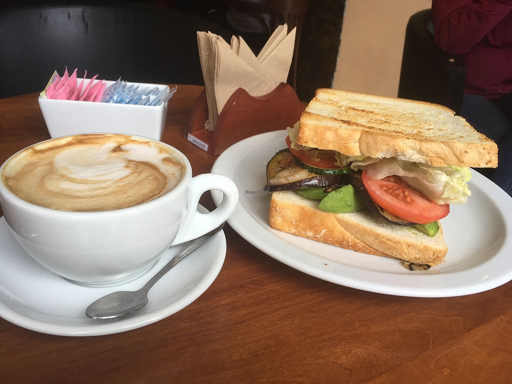 "Photo of Cafe Tostado  by <a href=""/members/profile/MariaTrapiello"">MariaTrapiello</a> <br/>Vegan sandwich and soy milk latte <br/> December 1, 2017  - <a href='/contact/abuse/image/84792/331138'>Report</a>"