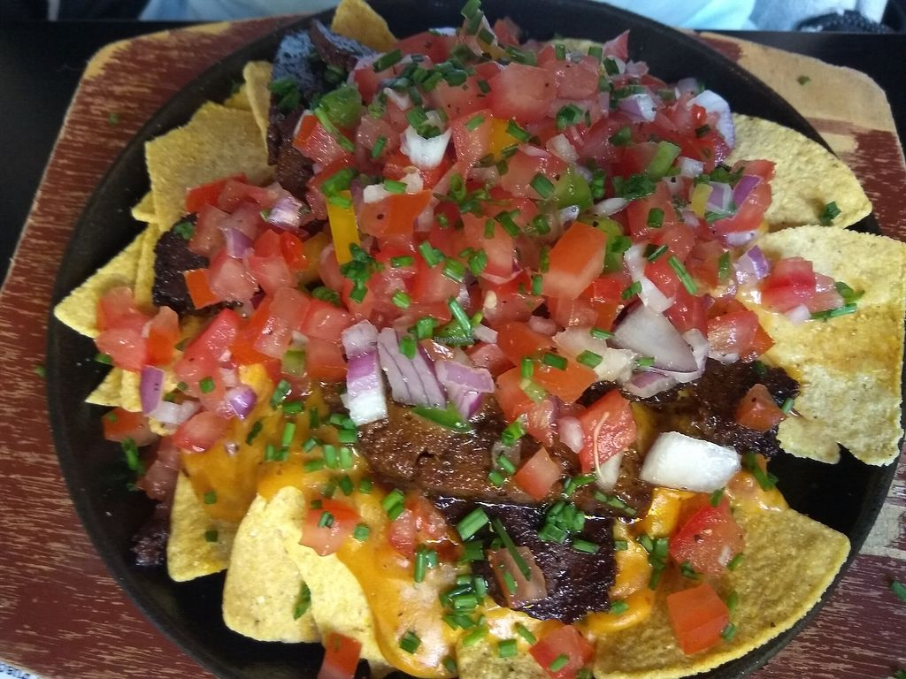 "Photo of Nice N Sleazy  by <a href=""/members/profile/TrixieFirecracker"">TrixieFirecracker</a> <br/>Tortilla chips with seitan and nacho cheese <br/> August 5, 2017  - <a href='/contact/abuse/image/84807/289369'>Report</a>"