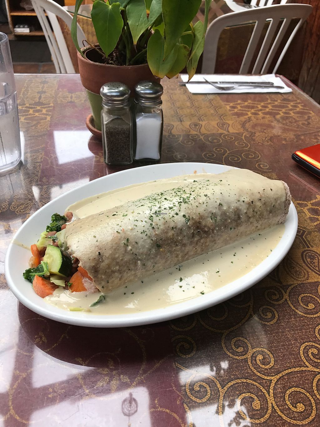 """Photo of The Spot Cafe  by <a href=""""/members/profile/koda668"""">koda668</a> <br/>Savory Vegetable Burrito  <br/> July 19, 2017  - <a href='/contact/abuse/image/84808/282231'>Report</a>"""