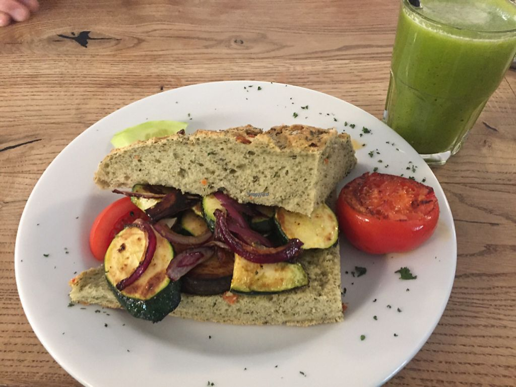 """Photo of KaffeeKlatsch  by <a href=""""/members/profile/LinaBrooks"""">LinaBrooks</a> <br/>Focaccia sandwich  <br/> January 7, 2017  - <a href='/contact/abuse/image/84820/209365'>Report</a>"""