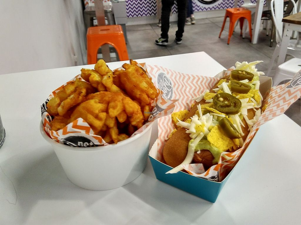 "Photo of Not Dogs  by <a href=""/members/profile/Roevin46"">Roevin46</a> <br/>Waffle fries  and Kickin' Katie Nacho Dog <br/> September 21, 2017  - <a href='/contact/abuse/image/84822/306868'>Report</a>"