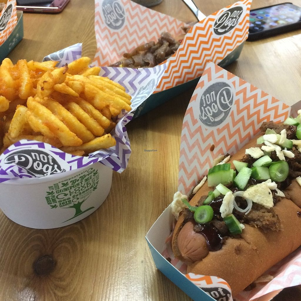 "Photo of Not Dogs  by <a href=""/members/profile/charclothier"">charclothier</a> <br/>Waffle vegan fries  <br/> October 4, 2017  - <a href='/contact/abuse/image/84822/311841'>Report</a>"