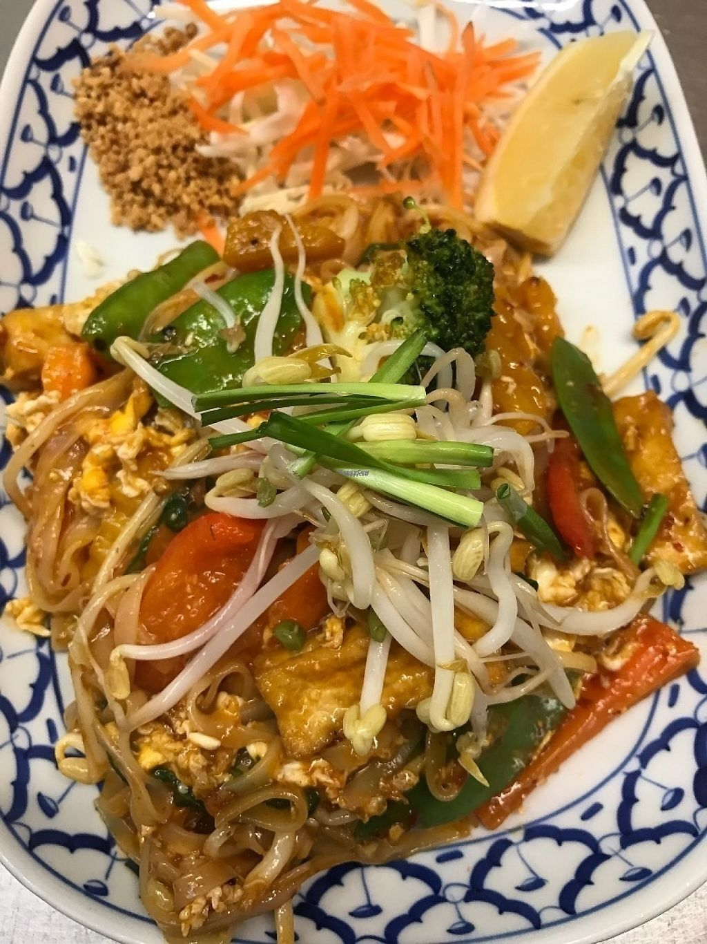 "Photo of Pattaya Thai  by <a href=""/members/profile/PattayaThai"">PattayaThai</a> <br/>Pad Thai veggies and tofu vegetarian, vegan, or gluten free as requested pls ask as requested <br/> February 17, 2017  - <a href='/contact/abuse/image/84843/227685'>Report</a>"