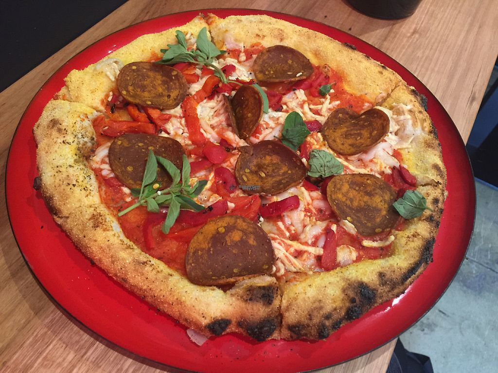 """Photo of Red Sparrow Pizza  by <a href=""""/members/profile/Tiggy"""">Tiggy</a> <br/>Sausage pizza - February 2017 <br/> February 20, 2017  - <a href='/contact/abuse/image/84855/228581'>Report</a>"""