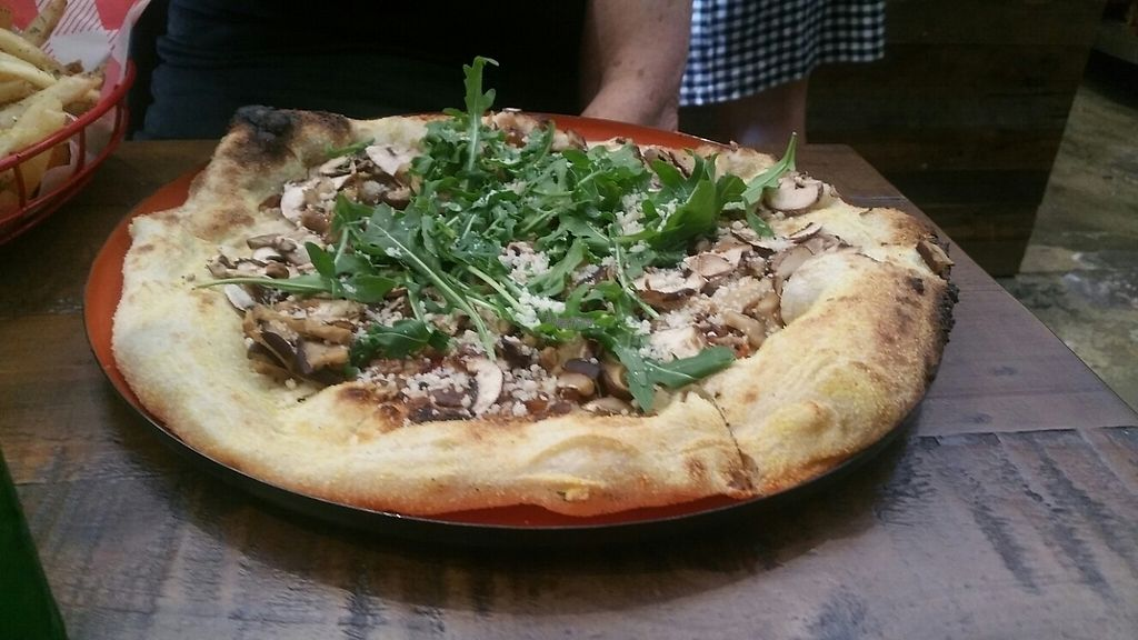 """Photo of Red Sparrow Pizza  by <a href=""""/members/profile/KatieBatty"""">KatieBatty</a> <br/>Mushroom pizza <br/> April 15, 2017  - <a href='/contact/abuse/image/84855/248272'>Report</a>"""