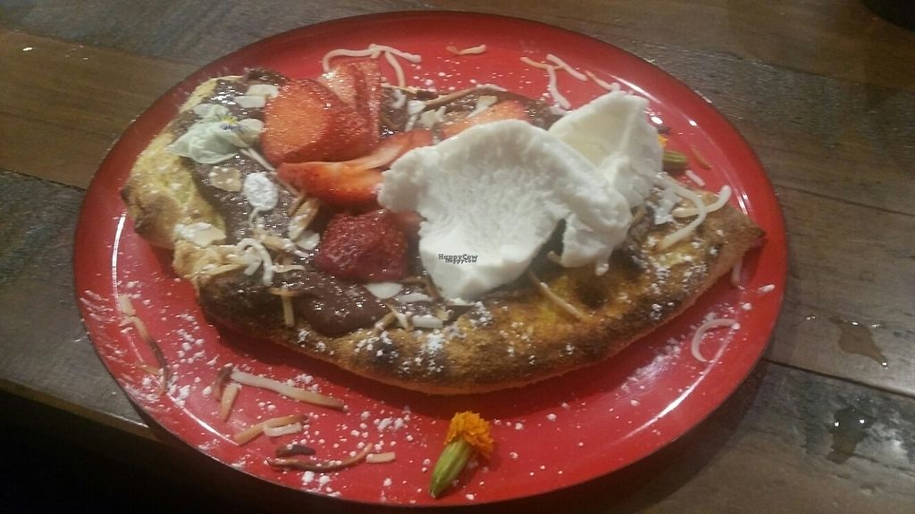 """Photo of Red Sparrow Pizza  by <a href=""""/members/profile/KatieBatty"""">KatieBatty</a> <br/>Dessert pizza <br/> April 15, 2017  - <a href='/contact/abuse/image/84855/248275'>Report</a>"""