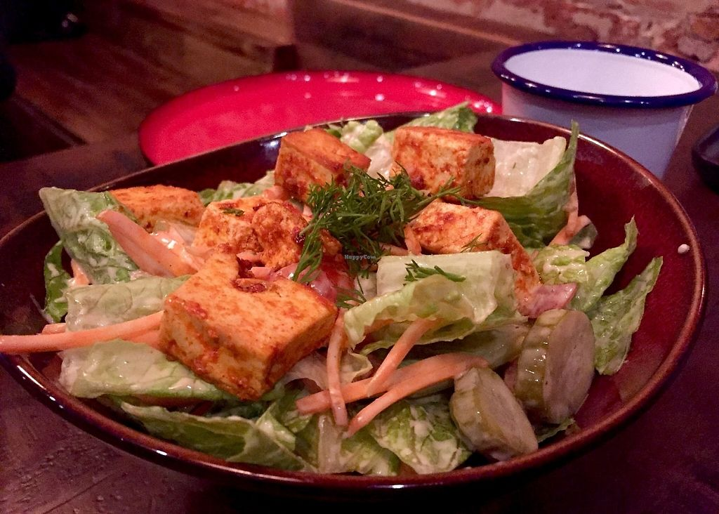 """Photo of Red Sparrow Pizza  by <a href=""""/members/profile/karlaess"""">karlaess</a> <br/>Tofu salad <br/> May 14, 2017  - <a href='/contact/abuse/image/84855/258600'>Report</a>"""