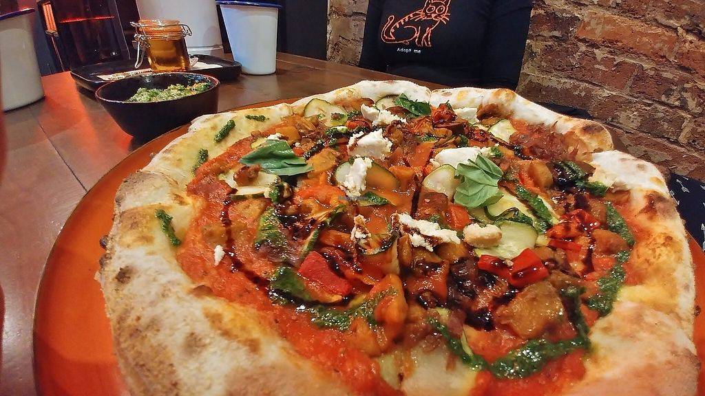 """Photo of Red Sparrow Pizza  by <a href=""""/members/profile/verbosity"""">verbosity</a> <br/>Ortolana pizza <br/> May 21, 2017  - <a href='/contact/abuse/image/84855/260769'>Report</a>"""