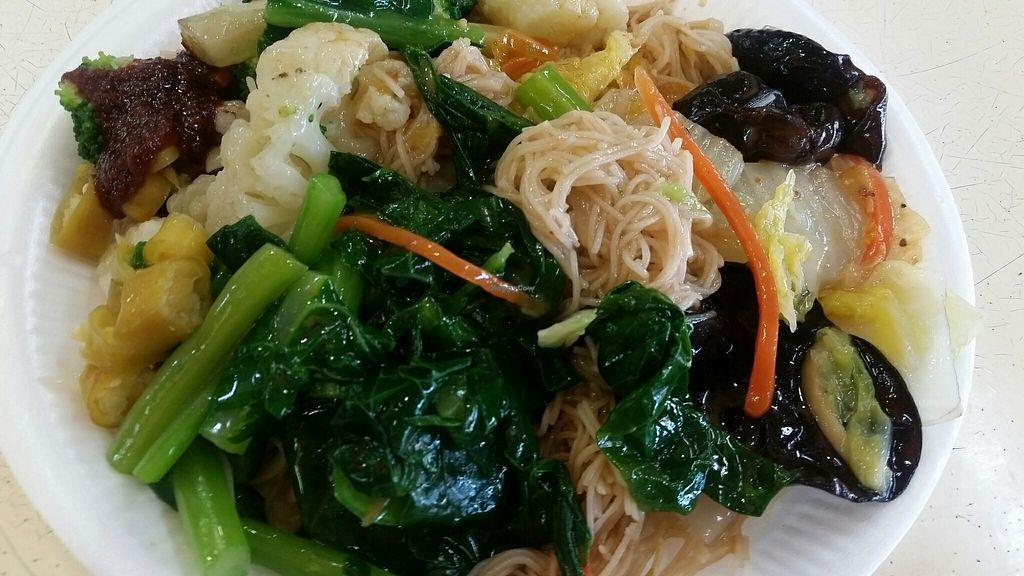 """Photo of e VEG Vegetarian - Serangoon Central   by <a href=""""/members/profile/JimmySeah"""">JimmySeah</a> <br/>economic bee hoon <br/> July 23, 2017  - <a href='/contact/abuse/image/84859/283672'>Report</a>"""