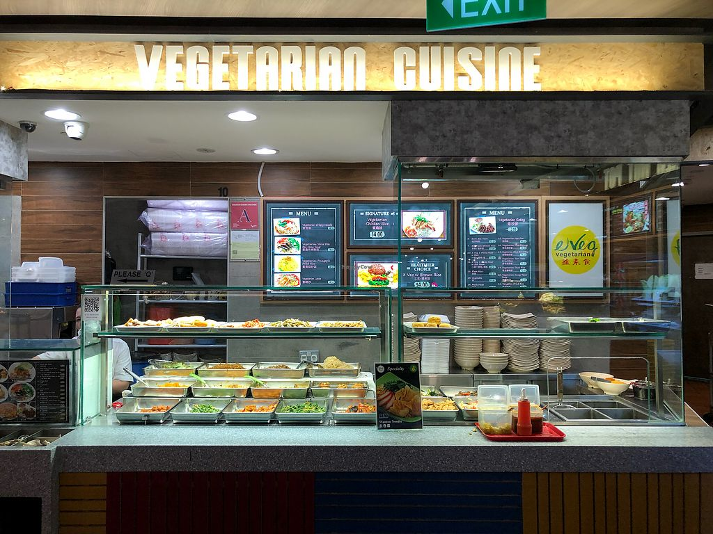 """Photo of e VEG Vegetarian - IMM Building  by <a href=""""/members/profile/CherylQuincy"""">CherylQuincy</a> <br/>Stall front <br/> March 18, 2018  - <a href='/contact/abuse/image/84860/372334'>Report</a>"""