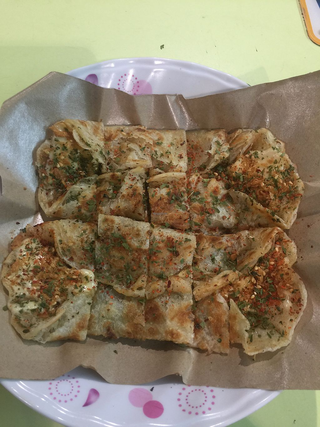 """Photo of Zi Fu Lin Vegetarian - temporarily closed  by <a href=""""/members/profile/FrancisChua"""">FrancisChua</a> <br/>Cheese prata <br/> January 12, 2018  - <a href='/contact/abuse/image/84881/345758'>Report</a>"""