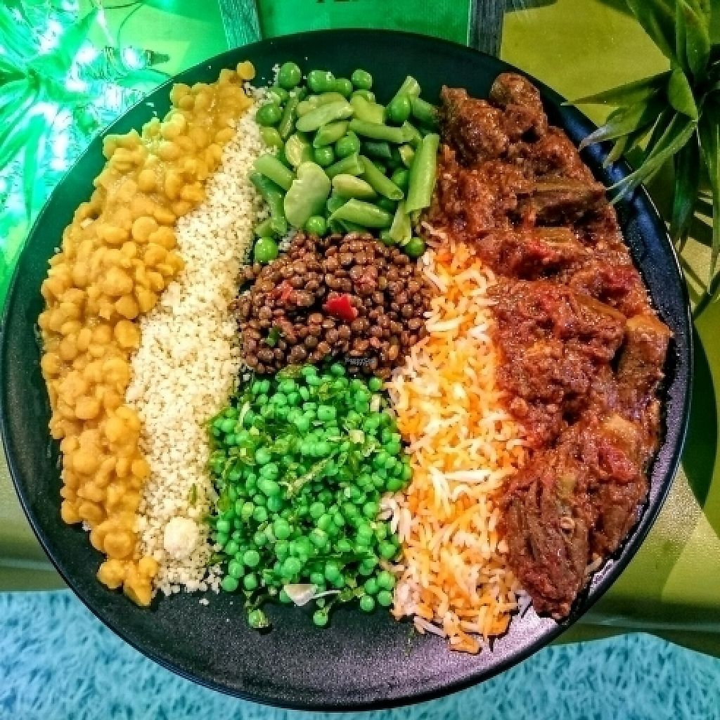 """Photo of Merkamo Ethiopian - Market Stall  by <a href=""""/members/profile/robz"""">robz</a> <br/>""""Half and Half"""" plate <br/> January 16, 2017  - <a href='/contact/abuse/image/84882/212497'>Report</a>"""