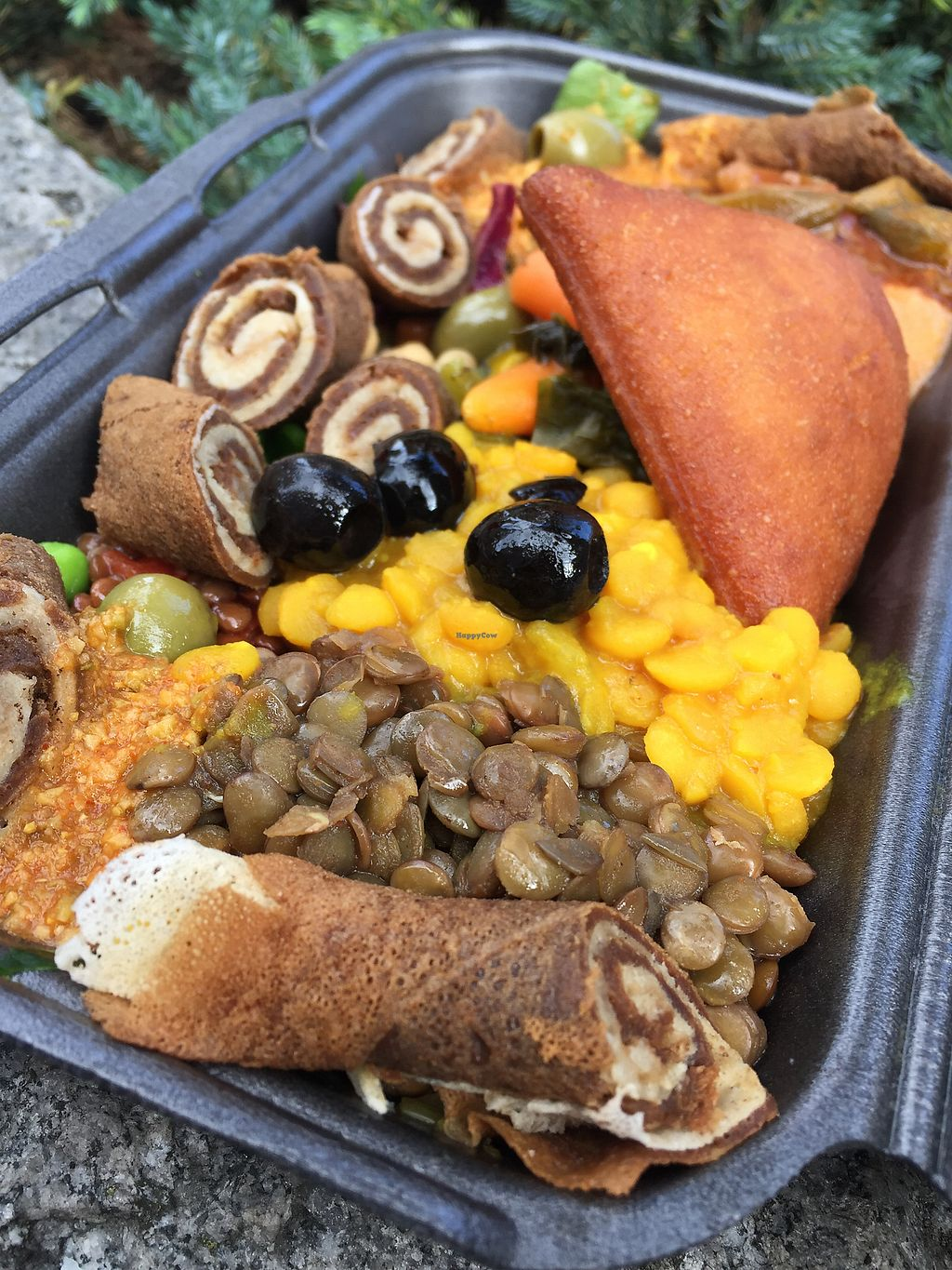 """Photo of Merkamo Ethiopian - Market Stall  by <a href=""""/members/profile/Bea_lc"""">Bea_lc</a> <br/>the yummy injera traditional plate <br/> September 9, 2017  - <a href='/contact/abuse/image/84882/302683'>Report</a>"""