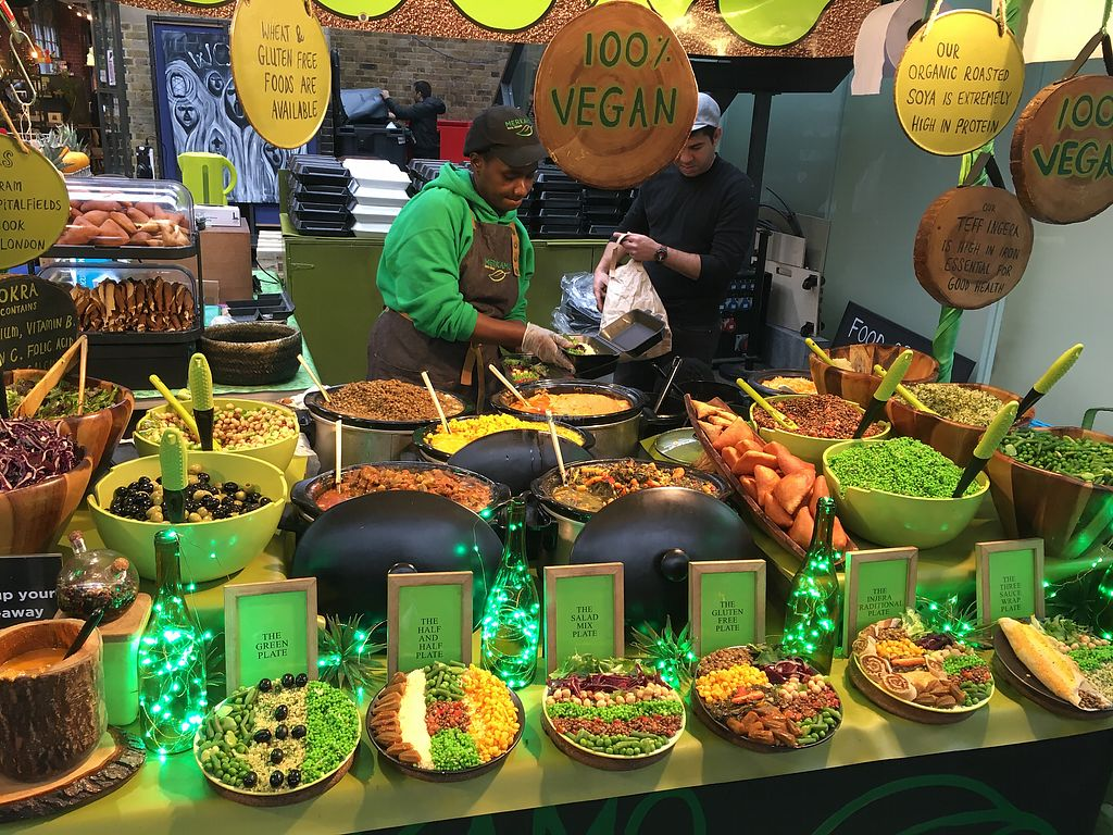 """Photo of Merkamo Ethiopian - Market Stall  by <a href=""""/members/profile/BobbyHyam"""">BobbyHyam</a> <br/>Who wouldn't eat here?! <br/> October 19, 2017  - <a href='/contact/abuse/image/84882/316660'>Report</a>"""