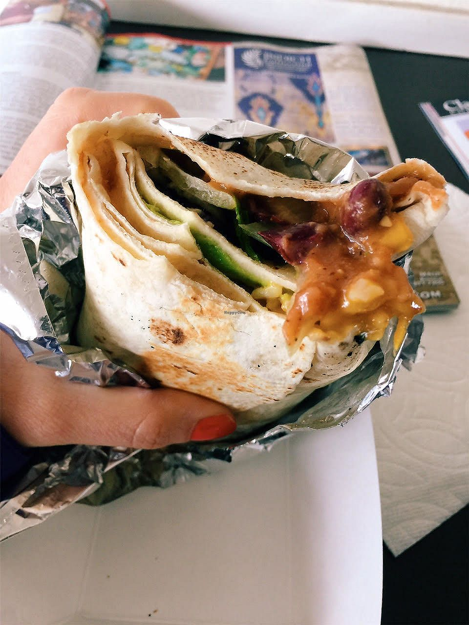"""Photo of Loko Wraps  by <a href=""""/members/profile/Stephaneen"""">Stephaneen</a> <br/>three bean burrito with vegan cheese <br/> March 21, 2018  - <a href='/contact/abuse/image/84905/373534'>Report</a>"""