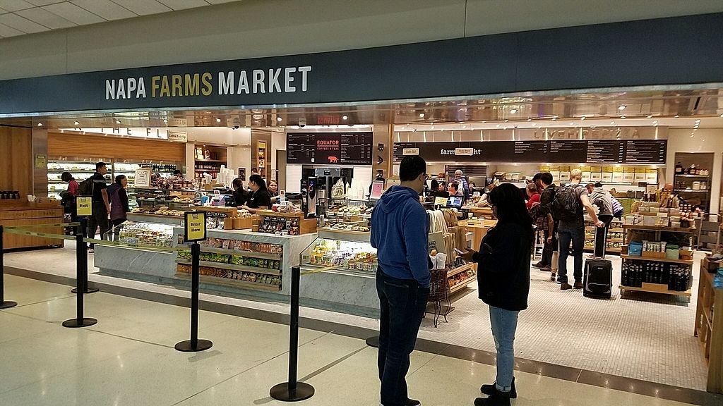 """Photo of SFO - Napa Farms Market - T2  by <a href=""""/members/profile/eric"""">eric</a> <br/>from outside, near gate 91 international terminal <br/> December 31, 2017  - <a href='/contact/abuse/image/84928/341404'>Report</a>"""