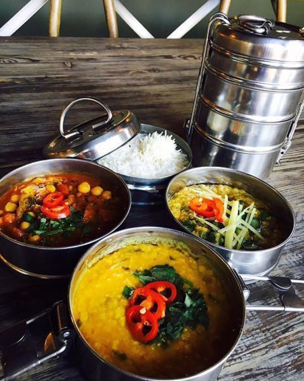 """Photo of Mowgli - Water St  by <a href=""""/members/profile/community"""">community</a> <br/>Vegan Tiffin Roulette <br/> January 3, 2017  - <a href='/contact/abuse/image/84954/207791'>Report</a>"""