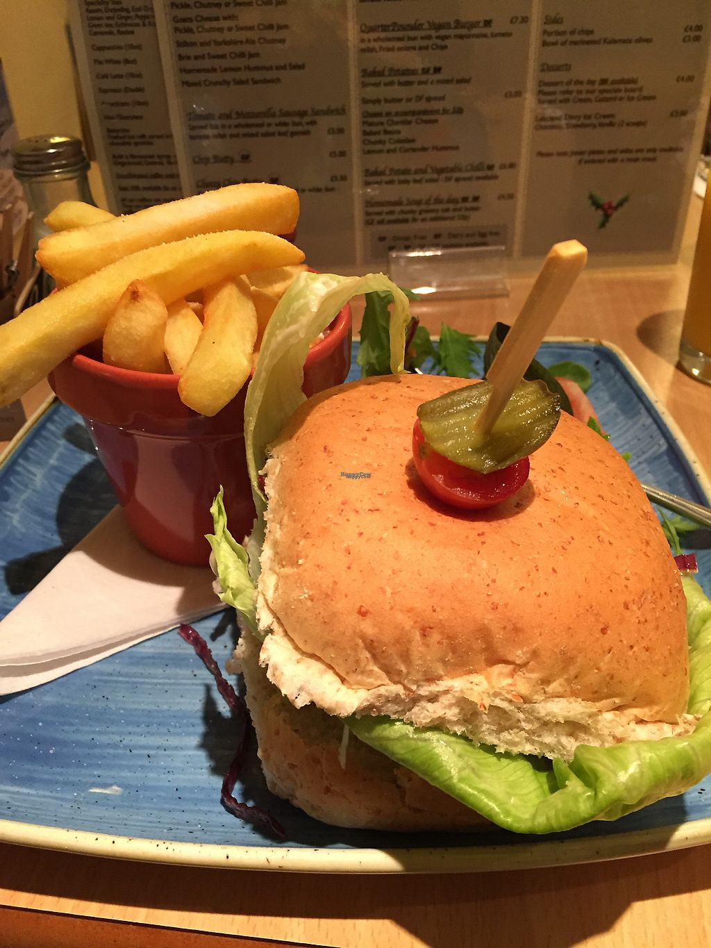 "Photo of The Retreat Cafe and Tea Rooms  by <a href=""/members/profile/SarahRichardson"">SarahRichardson</a> <br/>vegan burger chips & salad <br/> December 5, 2016  - <a href='/contact/abuse/image/8495/197568'>Report</a>"