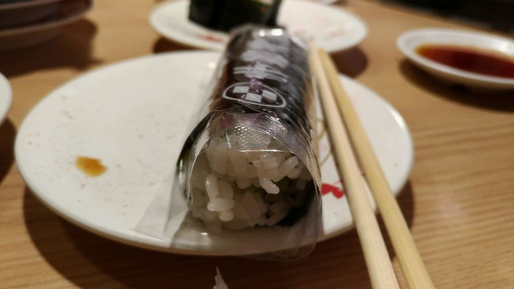 """Photo of Katsu Midori Sushi Shibuya  by <a href=""""/members/profile/chocomelonhead"""">chocomelonhead</a> <br/>cucumber hand roll-make it yourself <br/> September 5, 2017  - <a href='/contact/abuse/image/84977/301041'>Report</a>"""