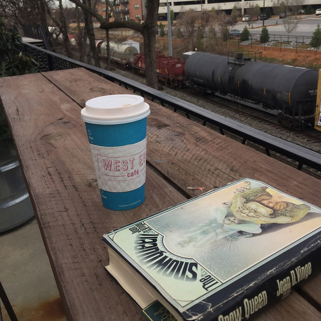 """Photo of West Egg  by <a href=""""/members/profile/mbentz"""">mbentz</a> <br/>takeout almond milk latte  <br/> February 22, 2017  - <a href='/contact/abuse/image/84983/229044'>Report</a>"""