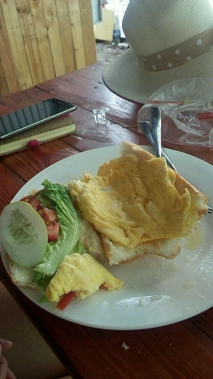 "Photo of Yummy Restaurant  by <a href=""/members/profile/EileenG"">EileenG</a> <br/>pan de omelete con tomate lechuga y pepino <br/> October 1, 2017  - <a href='/contact/abuse/image/84993/310478'>Report</a>"