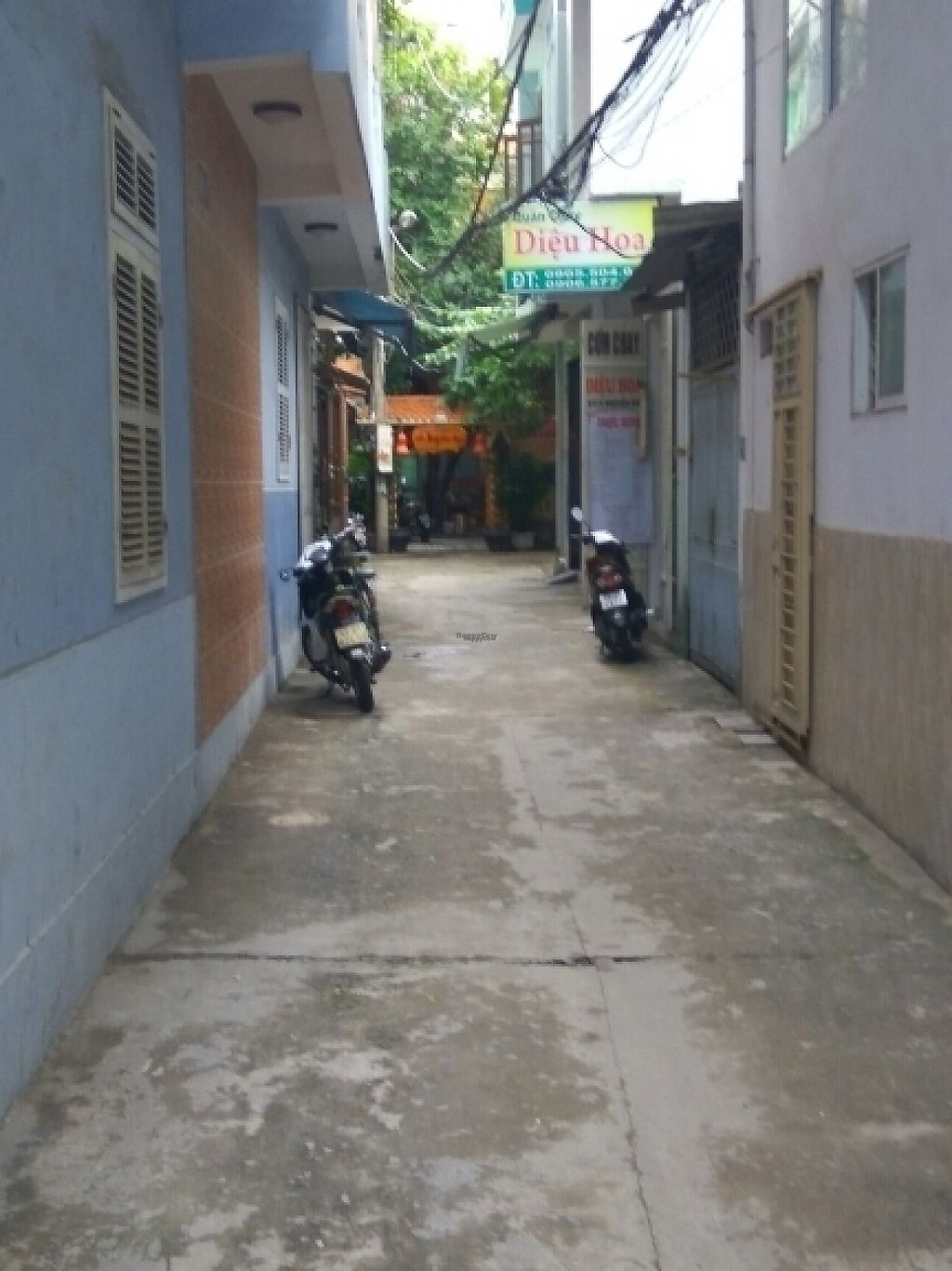 """Photo of Da Nang Com Chay  by <a href=""""/members/profile/Miggi"""">Miggi</a> <br/>view down alley (with another restaurant on right) <br/> January 5, 2017  - <a href='/contact/abuse/image/84999/208339'>Report</a>"""