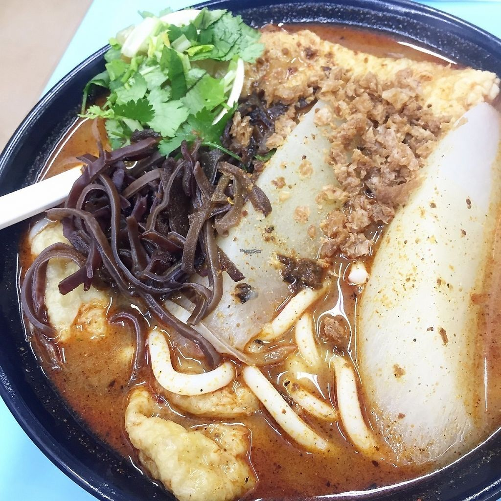 """Photo of Teng Wang Ge  by <a href=""""/members/profile/SamanthaIngridHo"""">SamanthaIngridHo</a> <br/>Udon in Ma La spicy soup with radish, wood ear, wheat gluten and bean curd roll <br/> March 4, 2017  - <a href='/contact/abuse/image/85012/232561'>Report</a>"""